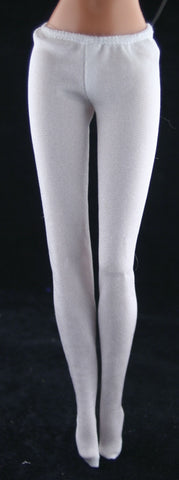 Barbie Size Clothes -- White Leggings W/ Feet (Tights) -- Excellent