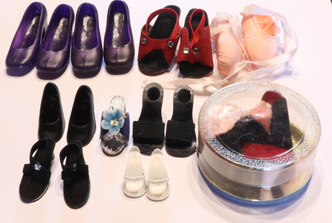 1950s Fashion Doll Shoes Lot -- Cissy, Jill, Revlon, Madame Alexander, etc.