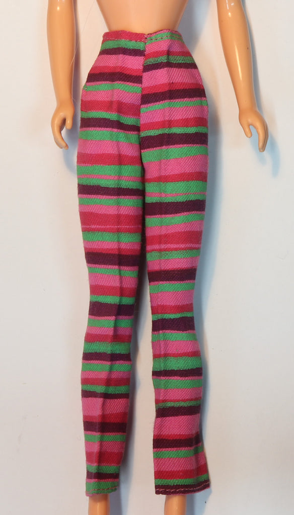 Vintage Barbie Francie Clothes -- Striped Hill Riders Slacks Pants # 1210 (1968)