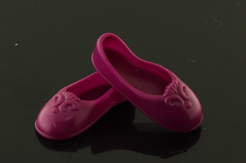 Flat Footed Barbie or Spectra Shoes -- Purple Ballet Flats