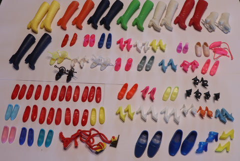 Giant Vintage, Mod & Superstar Barbie Skipper Francie Ricky Shoe Lot!