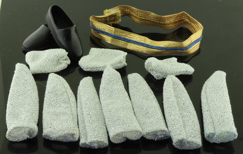 LJN Michael Jackson -- Lot of Dress Socks, Gloves, Gold Sash, Shoes