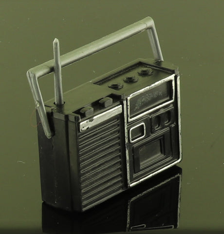 Mystery Item -- Black and Silver Hard Plastic Radio