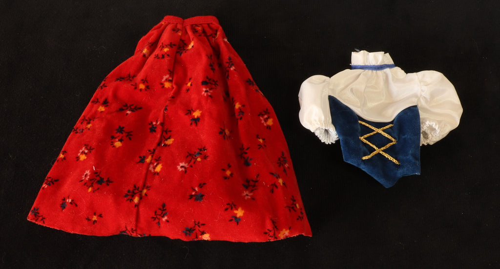 1983 Swiss Barbie Dolls of the World DOTW Outfit Skirt and Top