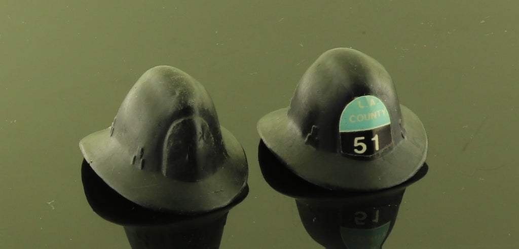 LJN LA Squad 51 Emergency TV Black Plastic Fire Hats