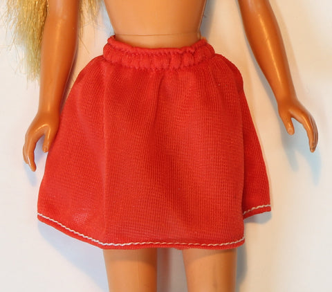 Growing Up Skipper Clothes -- #9022 Red Skirt (1975)
