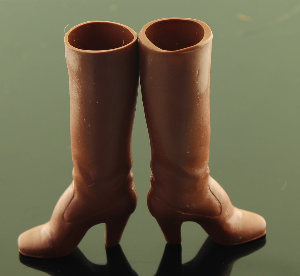 Mego Cher or Starz Shoes -- Tall Brown Rubber Boots