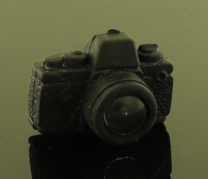 "Mystery Item -- Vintage Black Rubber Camera W/ Plastic ""Lens"""