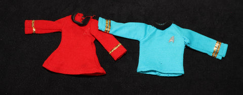 Vintage Original Mego Star Trek Spock/McCoy Shirt Uhura Tunic TLC Lot