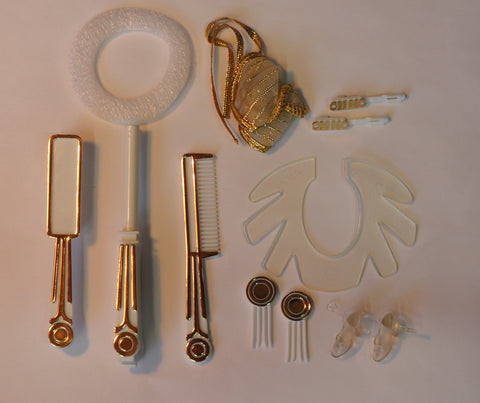 Golden Dream Barbie Accessories Barrettes Shoes Combs Etc. #1874 (1980)