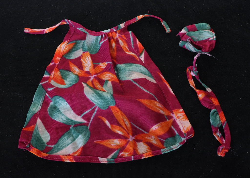 1982 Hawaiian Barbie Swims Suit (Bikini) and Wrap, TLC Needed!