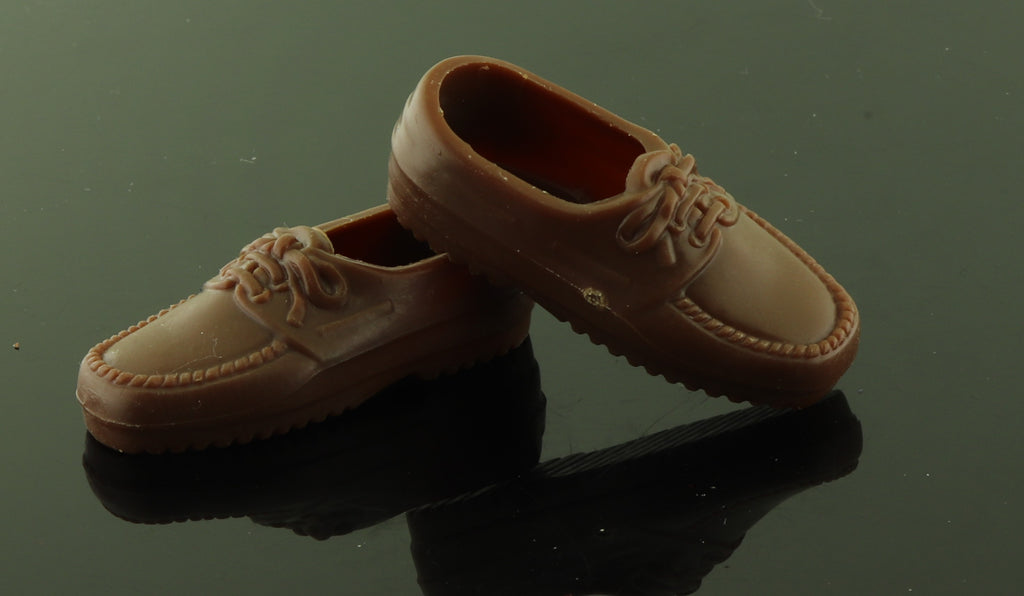 Ken Doll Shoes -- Milk Chocolate Brown Loafers