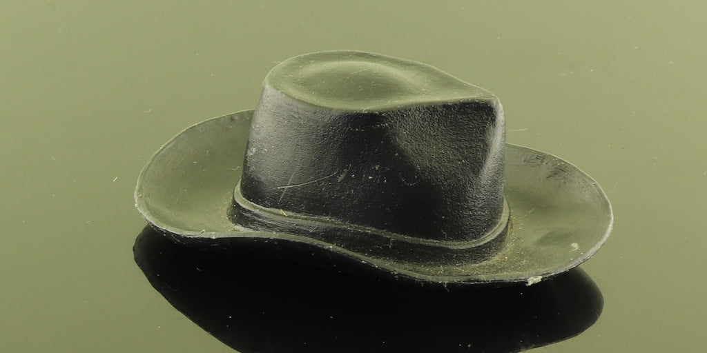 Mystery Item -- Hard Plastic Black Cowboy Hat