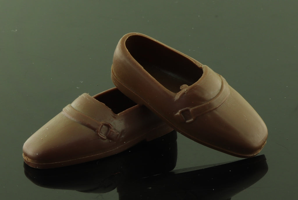 Vintage/Best Buy Ken Shoes -- Soft Rubber Buckle Loafers (Korea)