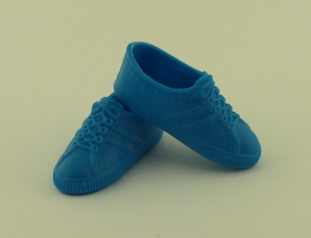 Ken Doll Shoes -- Bright Blue Classic Sneakers (China)