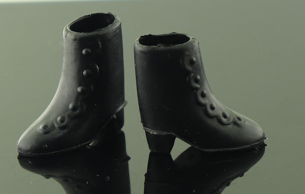 Horseman Mary Poppins Shoes -- Black Rubber Victorian Ankle Boots