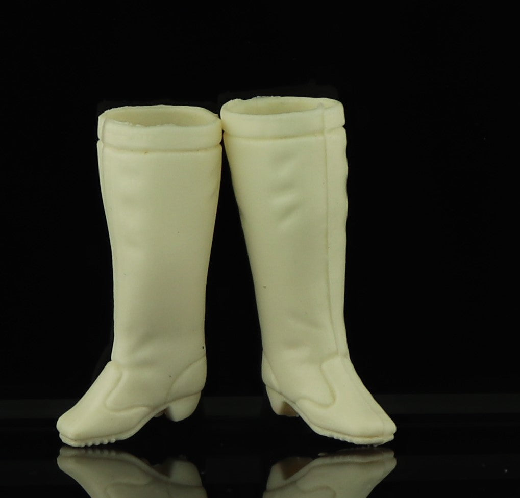Topper Dawn Shoes -- White Rubber Tall Boots