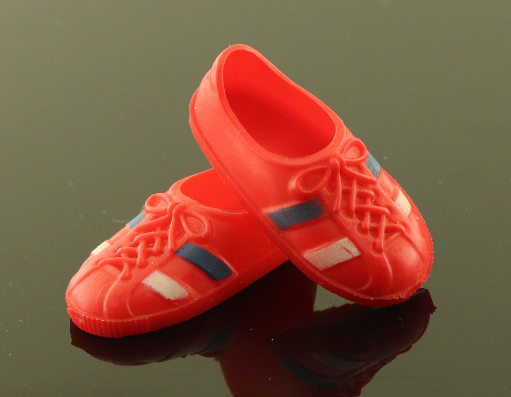 "Kenner Bionic Woman Shoes -- Red ""Special"" Sneakers for Sports Car"