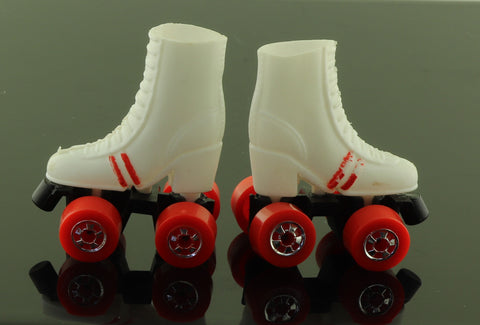 1980 Roller Skating Barbie Skates -- TLC, Paint Wear