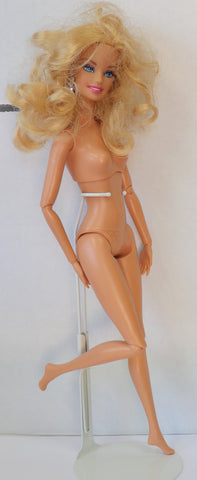 Nude Articulated Curly Blond Barbie Pivotal Body for OOAK or Play