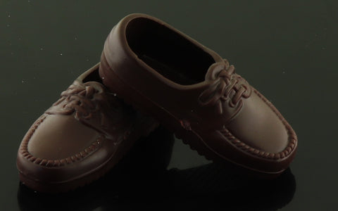 Ken Doll Shoes -- Very Dark Brown Loafers (China)