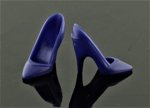 Barbie Shoes -- Dark Indigo Blue Pointy Toed High Heel Pumps