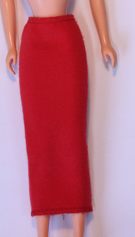 Barbie Clothes -- Tagged Superstar Era Red Knit Pencil Skirt