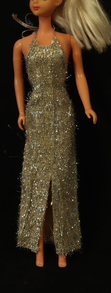 "Tuesday Taylor Silver Pencil Dress ""Glitter Gown"" 1978 TLC! VHTF."