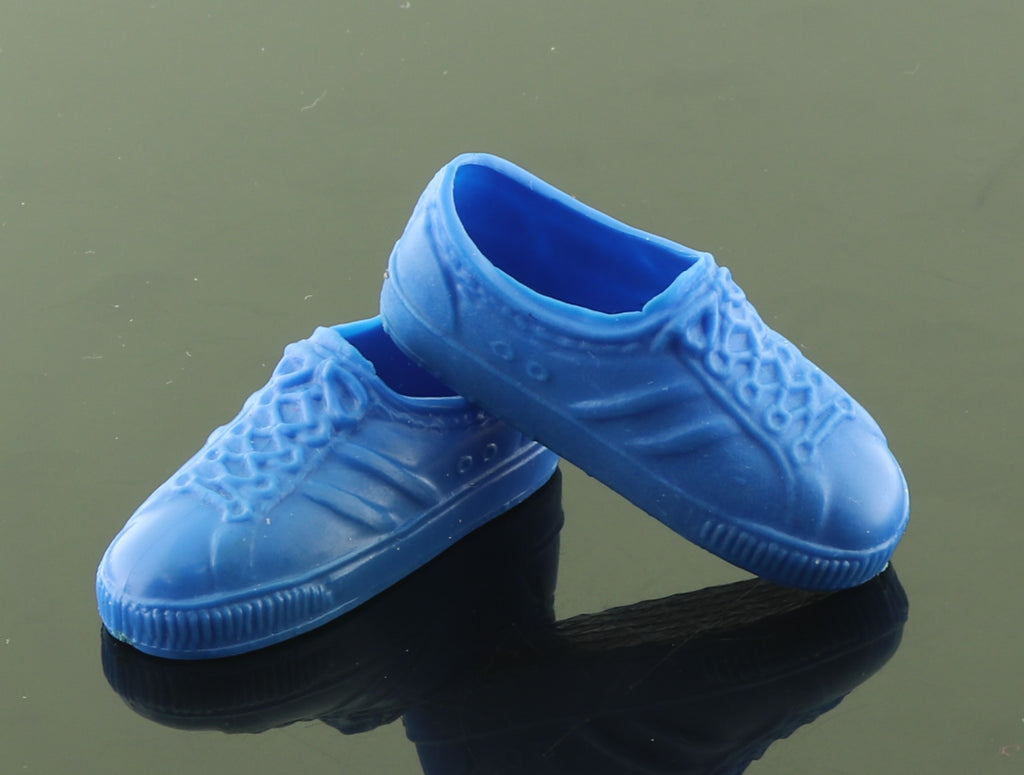 Ken Shoes -- Royal Blue Rubber Sneakers -- 1980s, Taiwan