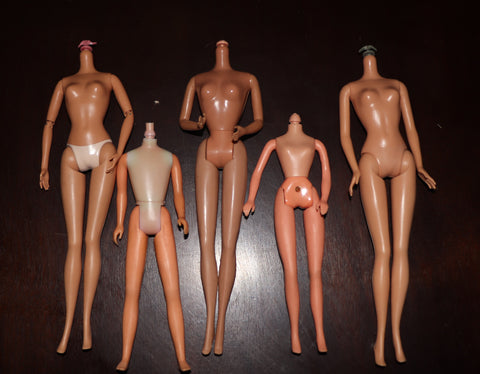 Assorted Barbie, Pregnant Midge, Skipper, Charlies Angels Doll Body Lot