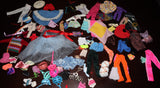 Large Junk/TLC  Lot of Barbie & Friends Clothes/Accessories