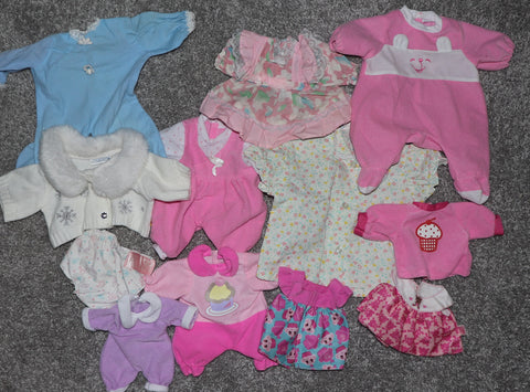 Babydoll or Bear Clothes -- Assorted Lot #2 of Rompers, Dresses, Etc