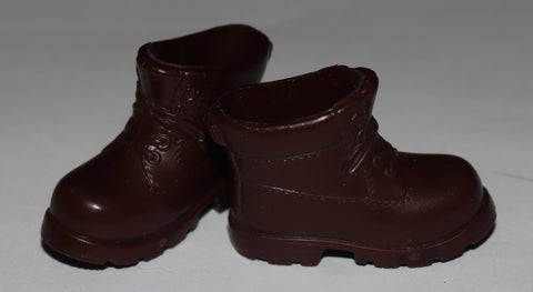 Ken Doll Shoes -- Chunky Chocolate Brown Hiking Boots