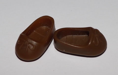 Kelly Doll Brown Ballet Slippers Toe Shoes