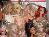 Box Lot of Nude Junk Barbies -- Fairytopia Lea Beach Barbies AA Etc.