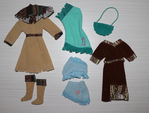 Barbie Size Clothes Lot -- Western Wear, Faux Buckskins, Inc. Disney Pocahontas