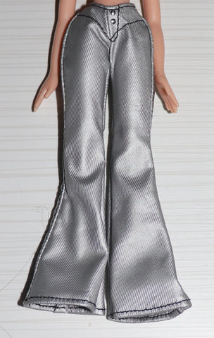 Bratz Sized Clothes -- Silver Flare-Leg Pants