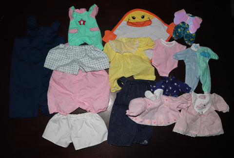 Big Lot of Doll Clothes #4 -- Reborn or Babydoll, Various Sizes