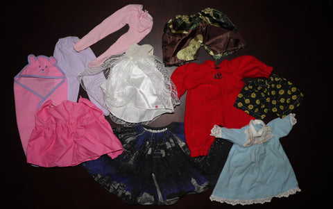 Doll Clothes Lot #3 -- Various Sizes, Reborn or Babydolls