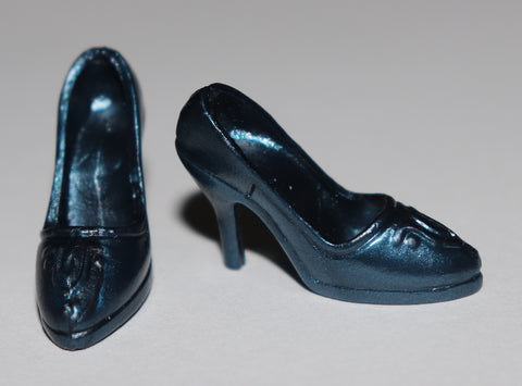 Barbie Shoes -- Irridescent Navy Blue Pumps