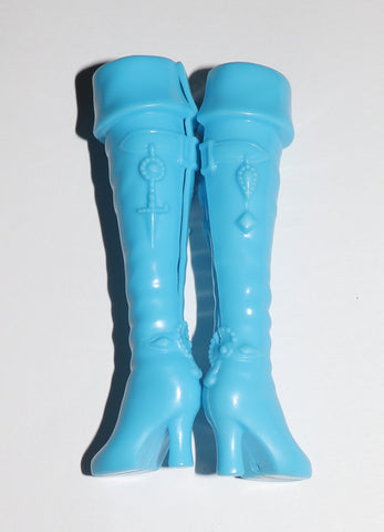 Barbie Shoes -- Skinny Blue Tall Boots W/ Cuffs