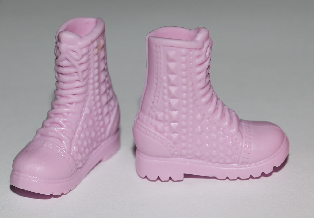 Barbie Shoes -- Pale Pink High Top Hiking Boots