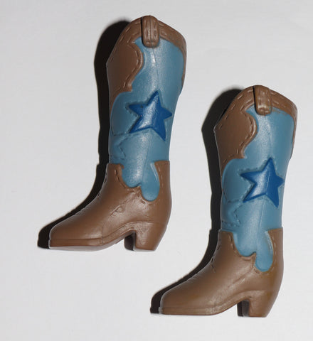 Ever After/Monster High Size Shoes -- Cowboy Boots W/ Blue Strs