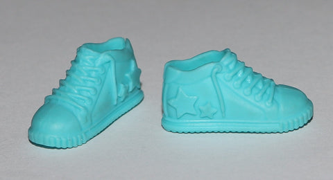 Skipper Sized Shoes -- Blue Sneakers W/ Stars Fit Barbies