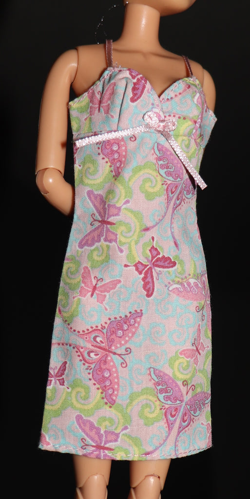Barbie Clothes -- Butterfly Print Cotton Sun Dress