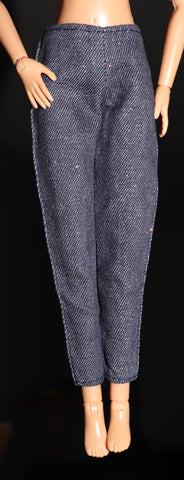 Barbie Clothes -- Dark Denim Jeans W/ Glitter