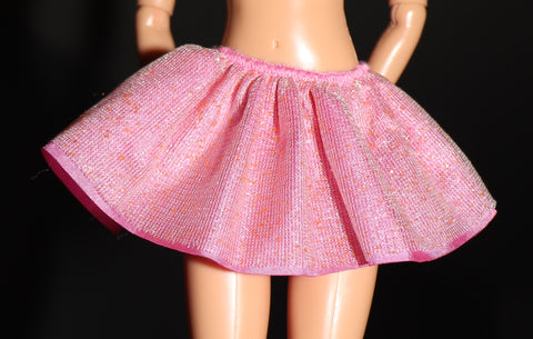Barbie Size Clothes -- Pink Ruffled Mini Skirt (Fairytopia?)