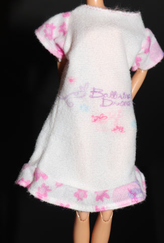 "Barbie Clothes -- ""Ballerina Dreams"" Fuzzy Night Shirt Pajamas"
