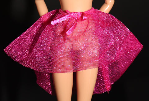 Barbie Size Clothes -- Sheer Hot Pink Overskirt