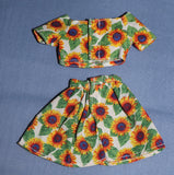 Barbie Clothes -- Sunflower Skirt Crop Top (Purple Tag)